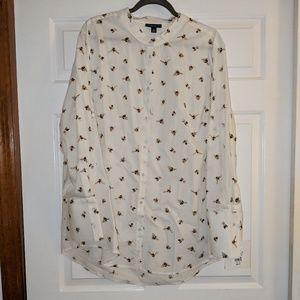 Victoria Beckham bee print button down shirt